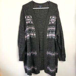 Torrid Plus Size 4 4X Open Knit Cardigan Sweater